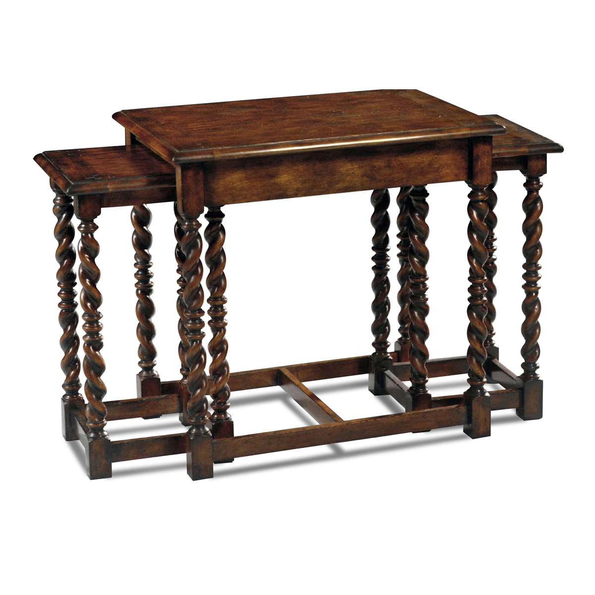 Country English Style Nesting Coffee Table English Antiques Caledonian Inc Barrington Il