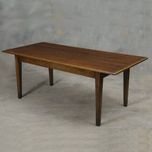 English reproduction oak farm table