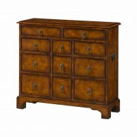 Reproduction Burr Wood Chest