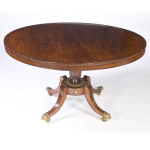 Antique English Rosewood Center Table