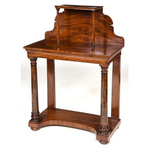 Antique English mahogany side table – SOLD