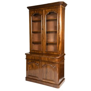 Antique English Mahogany 2 Door Bookcase