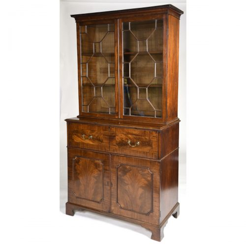 Antique English Mahogany Chippendale Secretaire