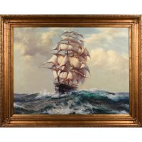 Oil Painting - Large Sailing Ship
