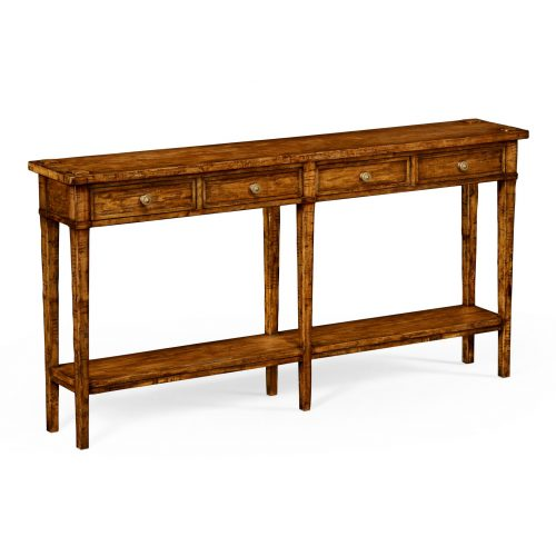 Reproduction English Walnut Console Table