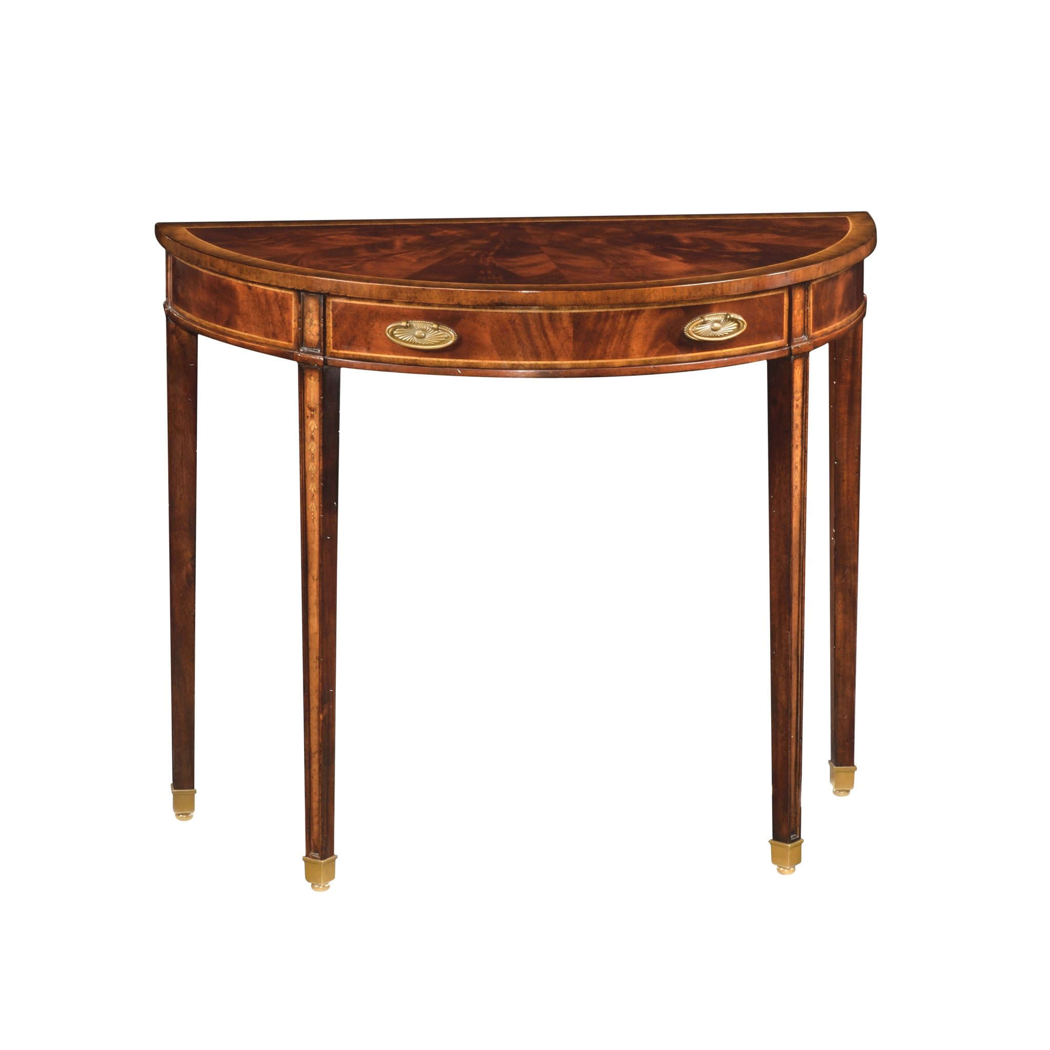 Reproduction english small mahogany demi lune table 1 - Table cuisine demi lune ...