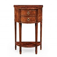 Reproduction English Mahogany Bow Front Side Table