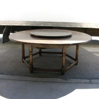 Vintage Oak Circular Dining Table