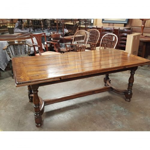 Vintage Oak Draw Leaf Refectory Table