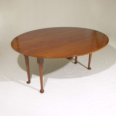 English Reproduction Cherry Drop Leaf Dining Table